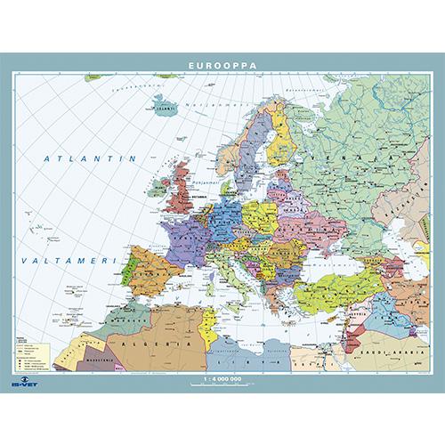 Kartta Eurooppa Valt 190x140 Is Vet