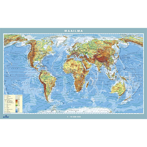 Kartta Maailma 100 X 70 Cm Is Vet