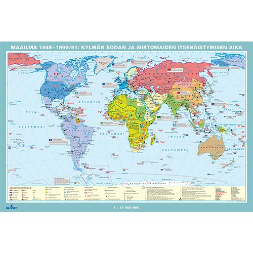 Kartta Maailma 1945 1990 Is Vet