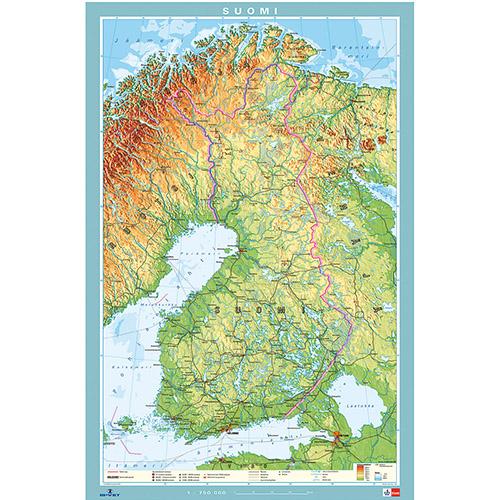 Kartta Suomi 70 X 100 Cm Is Vet